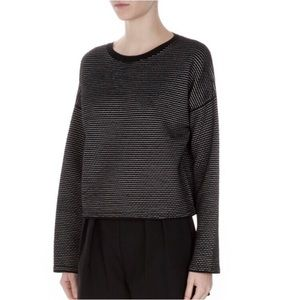 Theory Tamrist Textured Prosecco Pullover